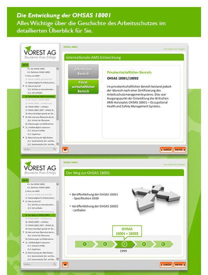 E-Learning Kurs Arbeitsschutzmanagement OHSAS 18001 - Wissen kompakt
