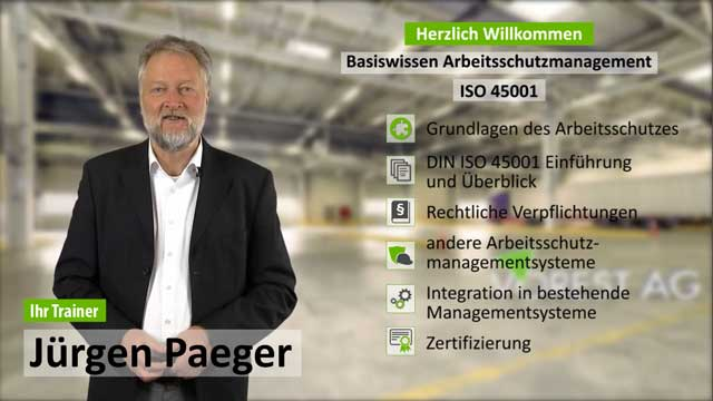 Schulung Arbeitsschutzmanagement ISO 45001